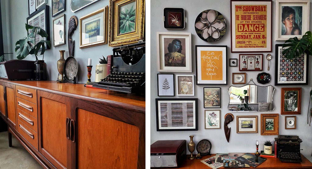 Inkabilly Blog House Tour: Aisling's Eclectic Shack - sideboard and gallery wall