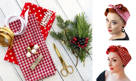 Gift Wrapping with retro scarves | The Inkabilly Blog