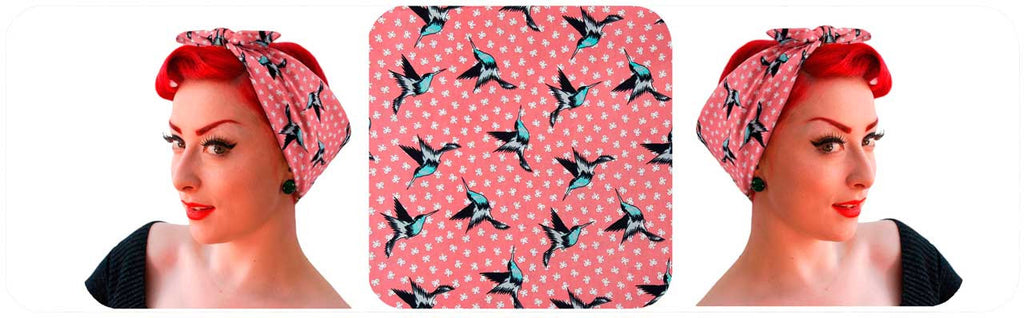 New hummingbirds bandanas in dusty pink