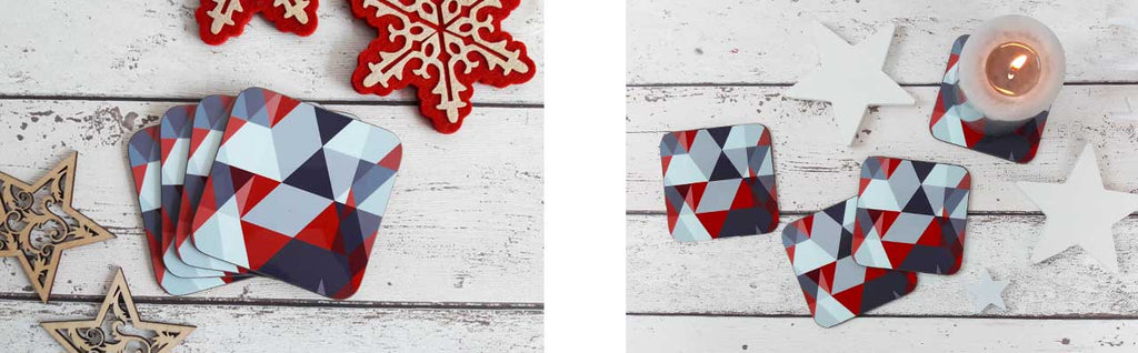 Scandi Christmas Coasters | The Inkabilly Emporium