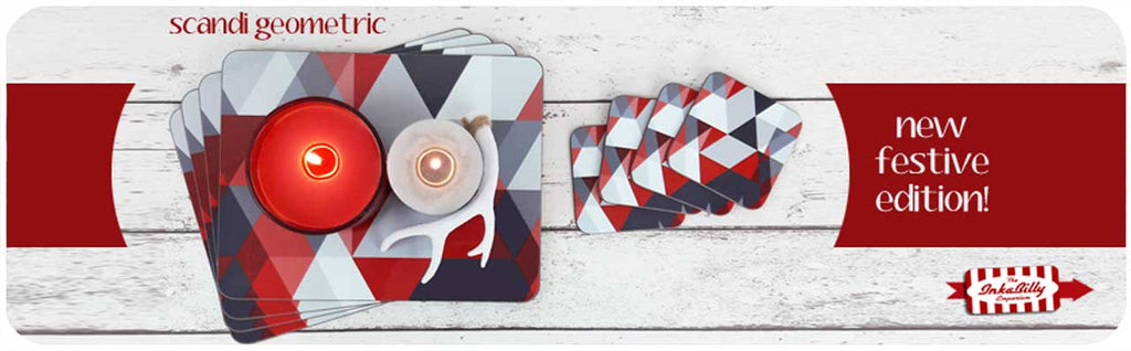 Scandi Christmas tableware - new Festive edition of our Scandi Geometric Placemats & Coasters