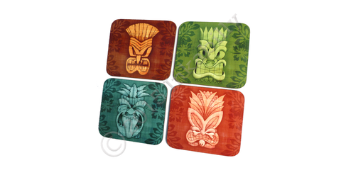 Tiki Coasters by Inkabilly