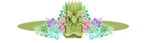 Tiki with flowers, blog image