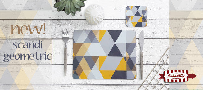 New Scandi Geometric tableware by Inkabilly