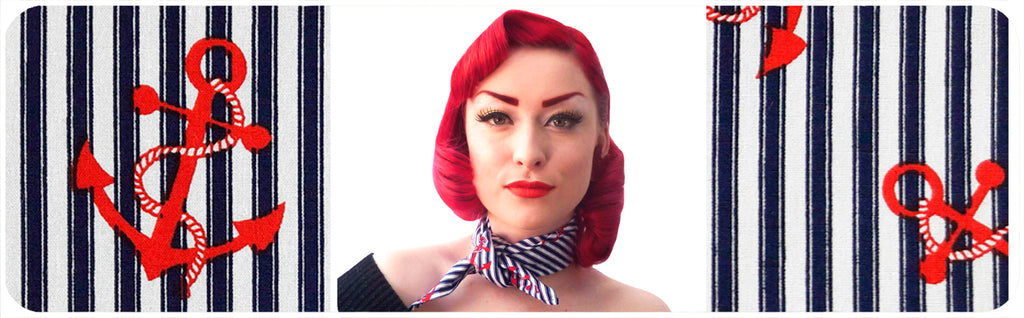 Nautical Rockabilly Bandana by Inkabilly