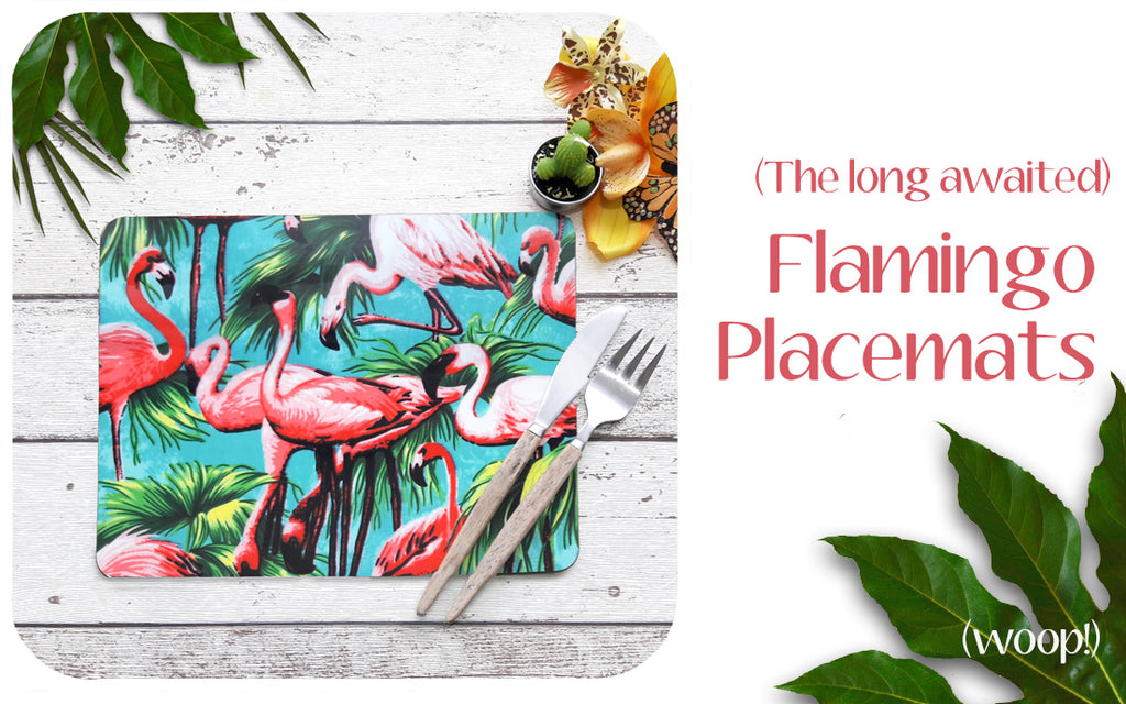 New Flamingo Placemats by Inkabilly