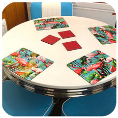 Flamingo Placemats on vintage 50s dinette table | The Inkabilly Emporium