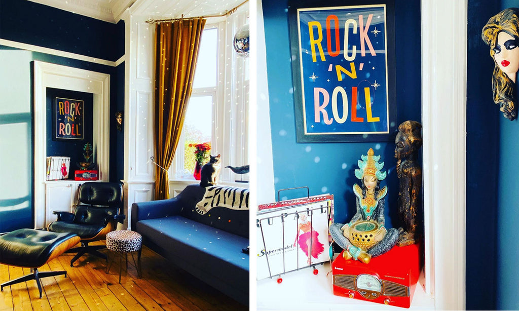House Tour: Ali's Retro Pop Home - Living Room