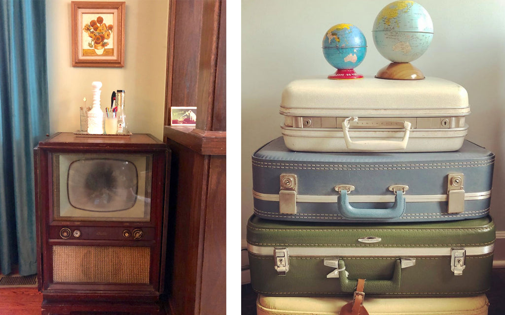 House Tour - Harmony's vintage TV and suitcase collection