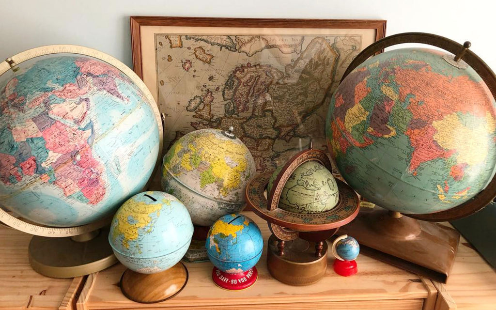 House Tour - Harmony's vintage globe collection
