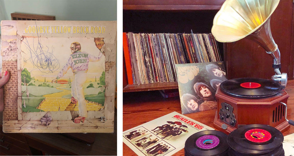 House Tour - Harmony's vintage record collection and record player
