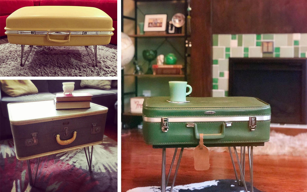 House Tour - Harmony's upcycled suitcase tables