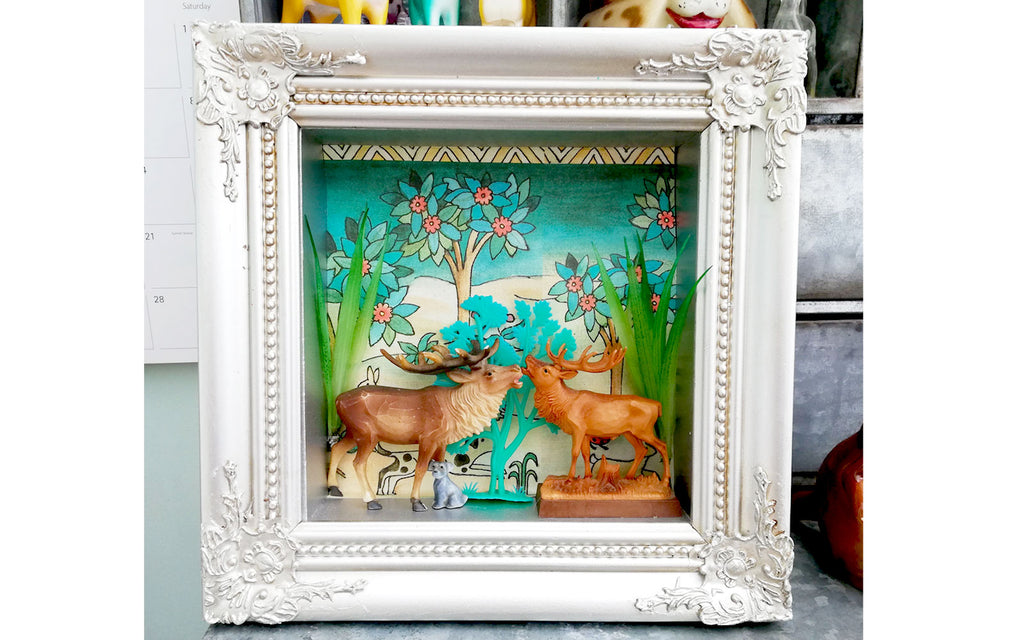 Hazel's Handmade Kitsch Artwork - Inkabilly Blog House Tour