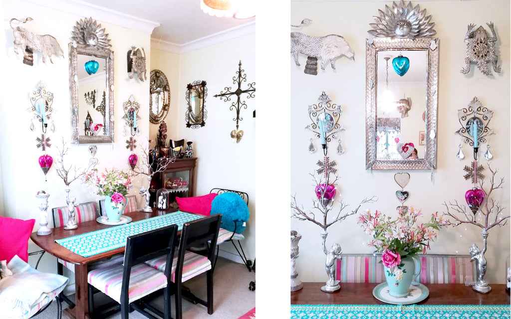 Hazel's Kitsch Dining Room - Inkabilly Blog House Tour