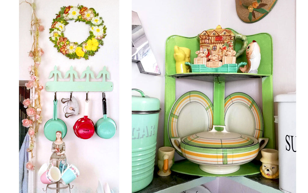 Details in Hazel's Vintage Kitsch Kitchen - Inkabilly Blog House Tour