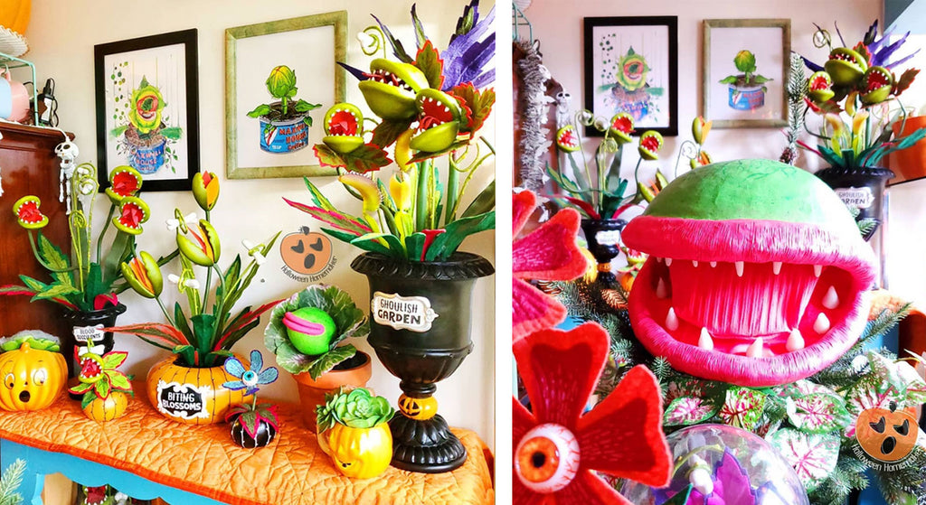 Hazel's Halloween Displays inspired by Little Shop of Horrors
