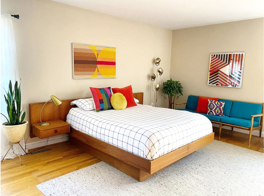 House Tour: Anna's Colourful Mid Century Modern Pad - bedroom