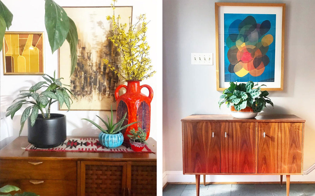House Tour: Anna's Colourful Mid Century Modern Pad - sideboard details