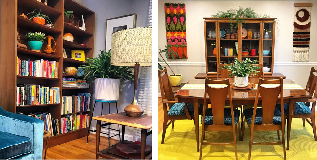House Tour: Anna's Colourful Mid Century Modern Pad - dining room details