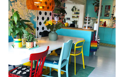 The Inkabilly Blog - Ingrid's Colourful retro Dining Room
