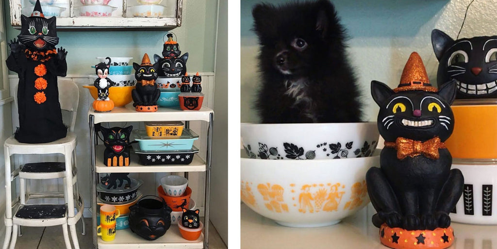 Jennie's Vintage Pyrex and Halloween Cats