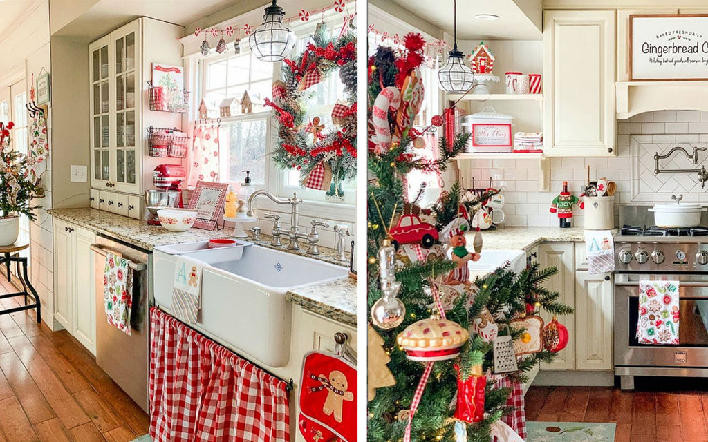 kitsch christmas kitchen by goldenboysandme