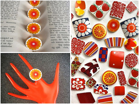 Kila Design Retro jewellery - oranges - The Inkabilly Blog