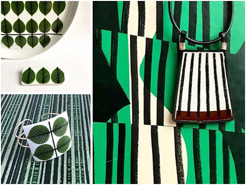 Kila Design Retro jewellery - greens - The Inkabilly Blog