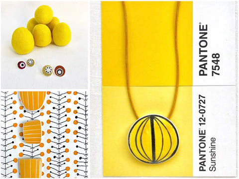 Kila Design Retro jewellery - yellows - The Inkabilly Blog