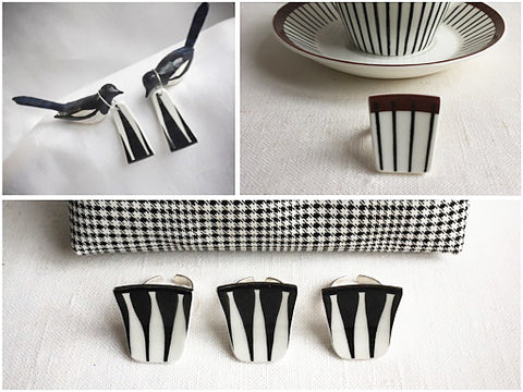 Kila Design Retro jewellery - black & White - The Inkabilly Blog