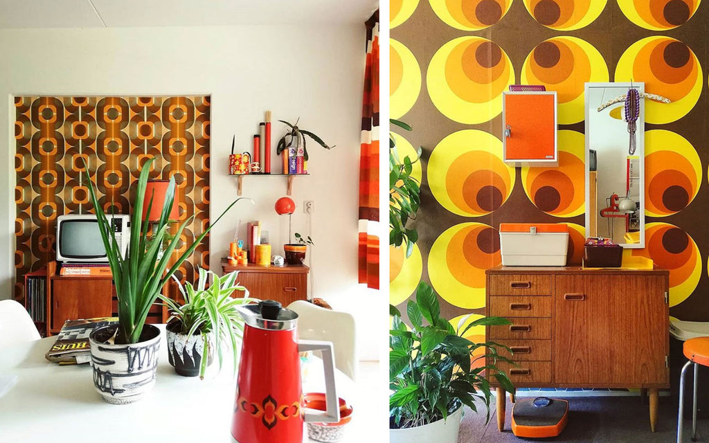 House Tour - Laura's 70s Op Art walls
