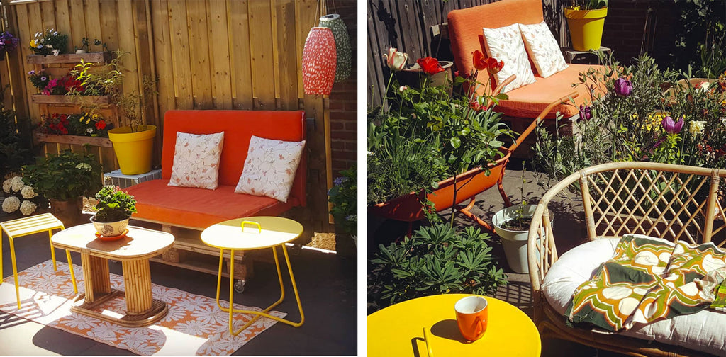 House Tour: Gwenn's Eclectic Vintage and Upcycled Home - garden