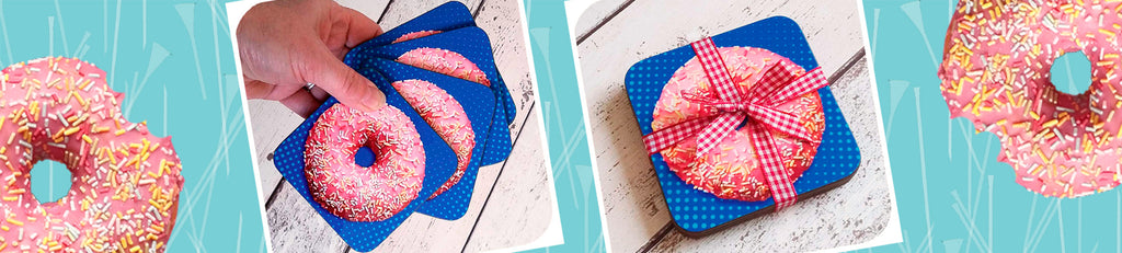 Donut Coasters in our autumn sale | The Inkabilly Emporium