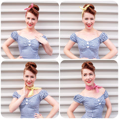 Miss Hero Holliday Review of Inkabilly Gingham Bandanas
