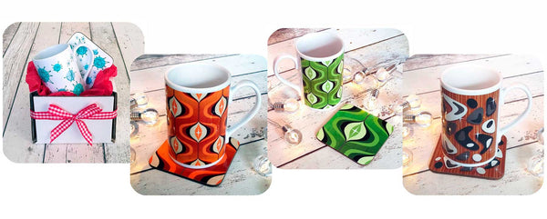 Mug and Coaster Gift Sets ideal for Secret Santa Gifts