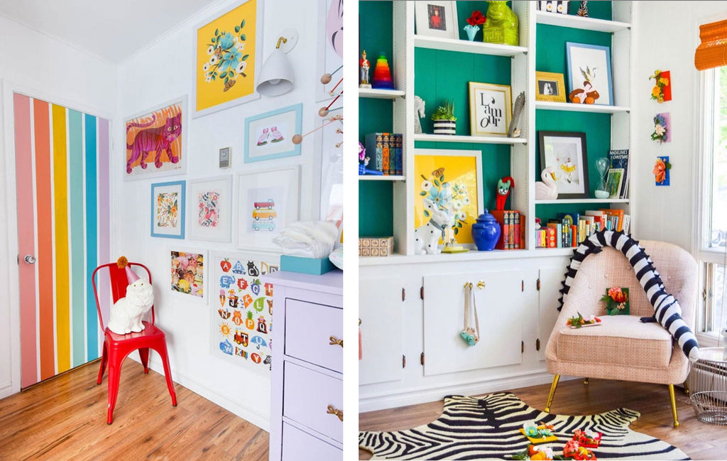 House Tour: Ariel's bold retro home - nursery. Photo credit PMQforTWO