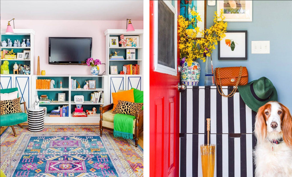 House Tour: Ariel's bold retro home - Hallway and TV room.Photo credit PMQforTWO