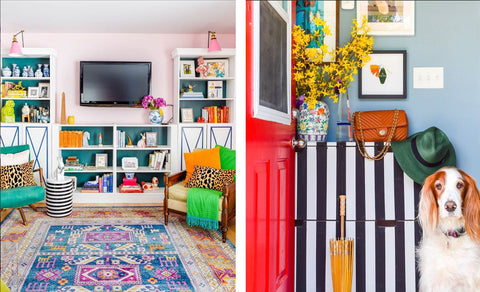 House Tour: Ariel's bold retro home. Photo credit PMQforTWO