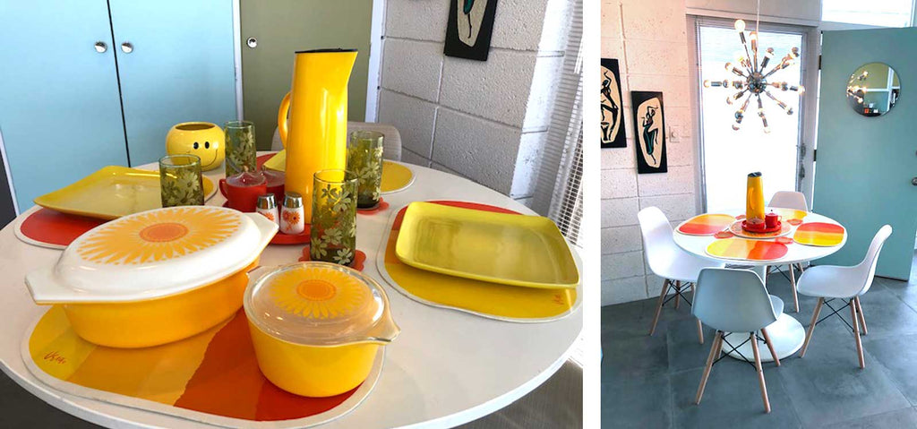 Palm Springs Mid Century condo dining area | The Inkabilly Blog
