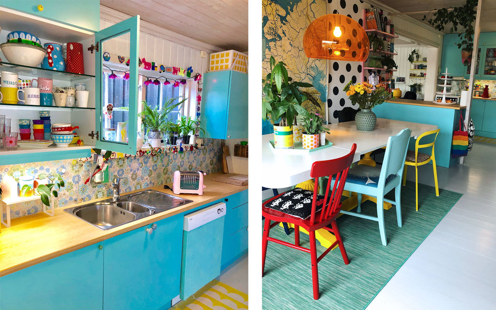 The inkabilly Blog - Ingrid's colourful vintage kitchen