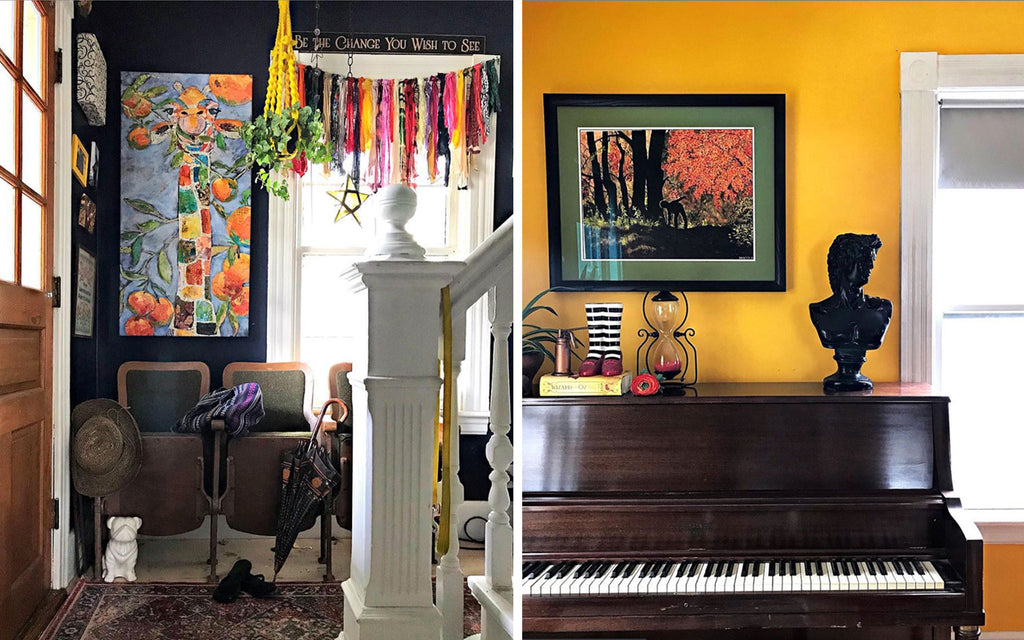 House Tour: Ryann's Mid Century Home - hallway and piano