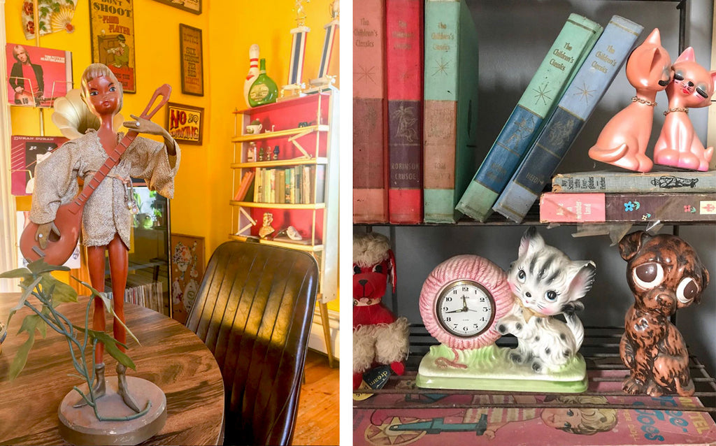 House Tour: Ryann's Mid Century Home - vintage kitsch ornaments