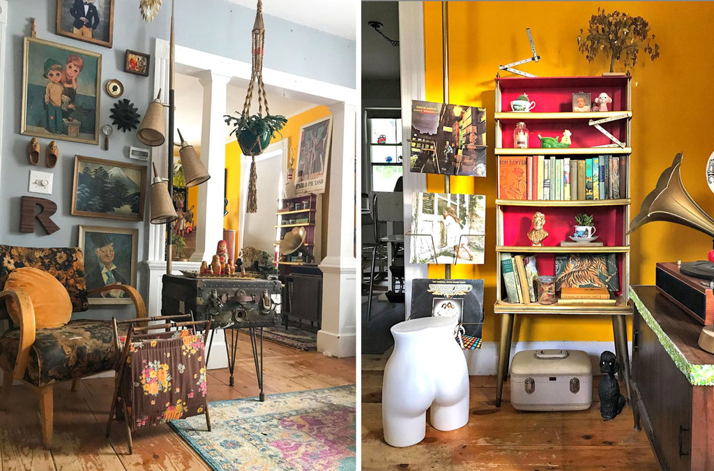 House Tour: Ryann's Mid Century Home - room details with pops of yellow