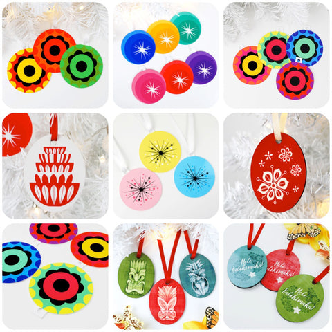 SHOP RETRO CHRISTMAS DECORATIONS