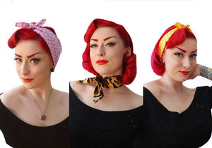Rockabilly bandanas and headscarves by inkabilly