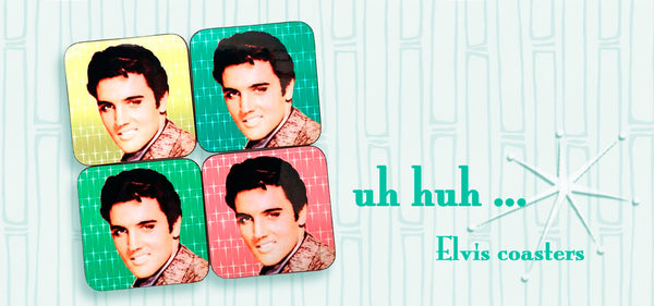 Kitsch Elvis Coasters