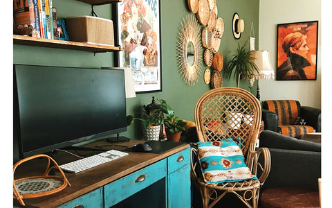 eclectic boho apartment on The Inkabilly Blog
