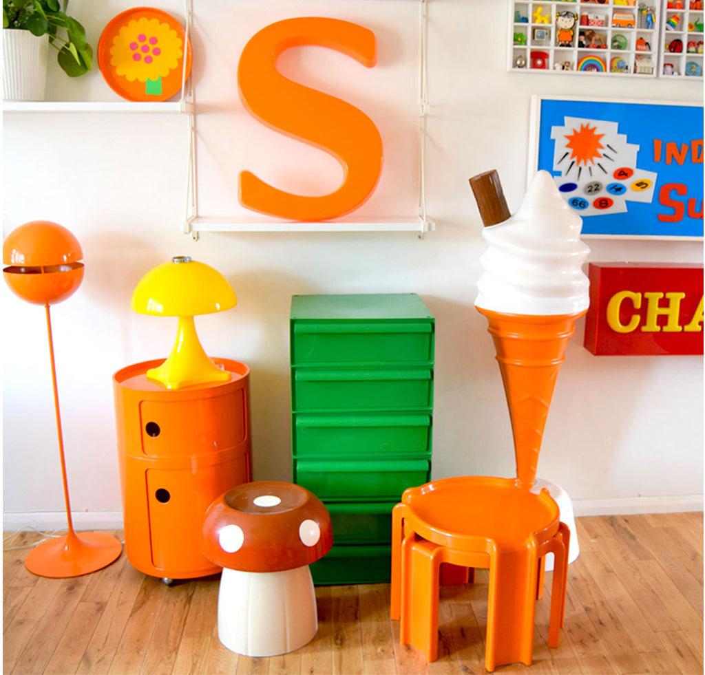 House Tour - Sophie's Vintage Decor - collection of 70s plastic pieces