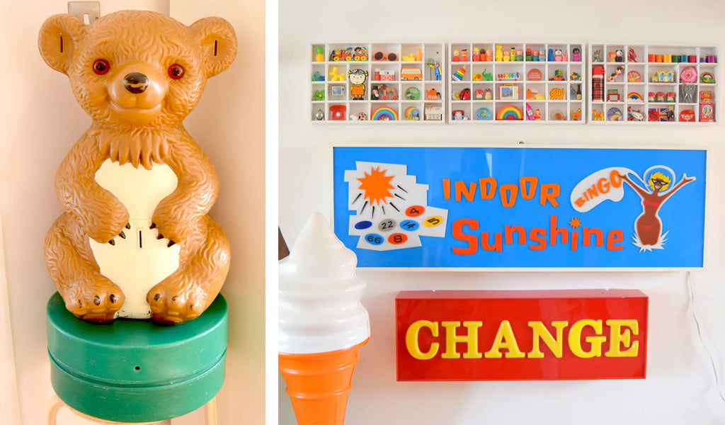 House Tour - Sophie's vintage teddy bear charity box and 50s holiday camp sign
