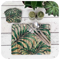 Tropical Palm Leaf Print Placemats and Coasters